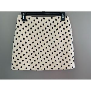 J. Crew polka dot mini skirt